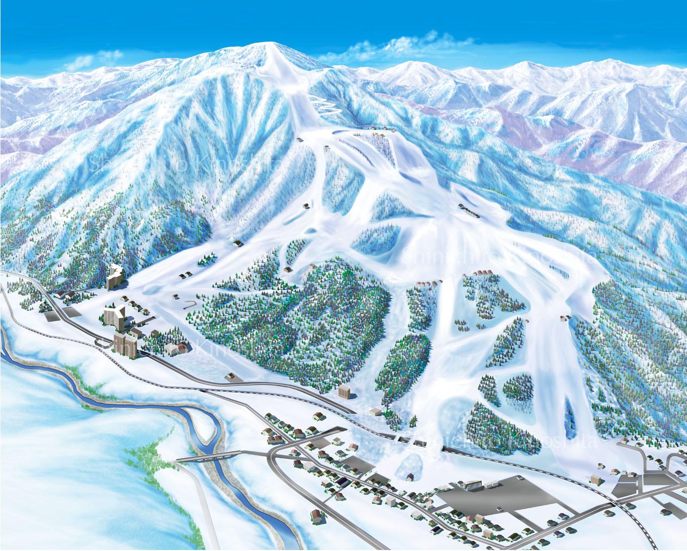 石打丸山スキー場鳥瞰図