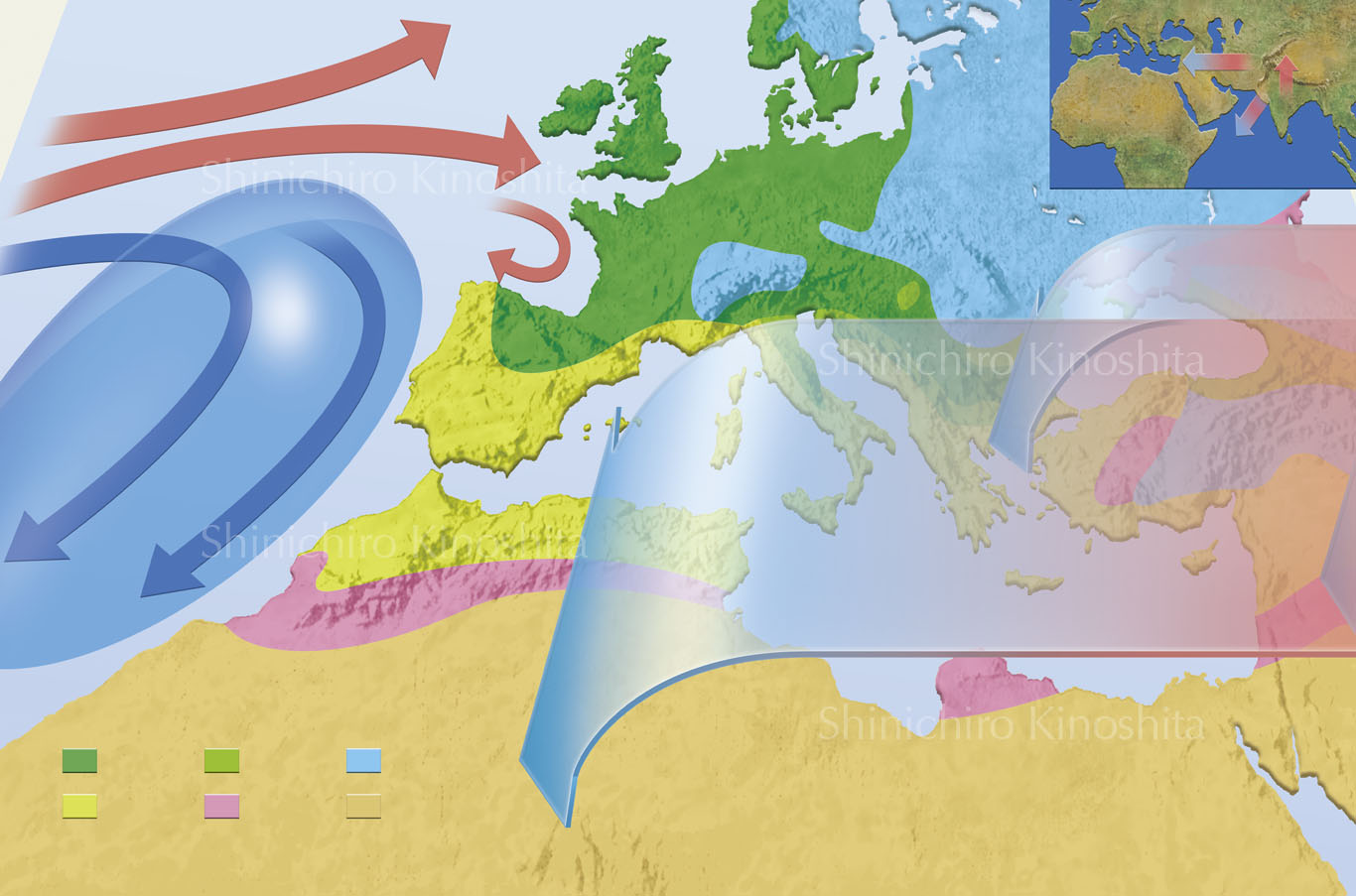 地中海の気候ーNewton別冊「天気と気象」