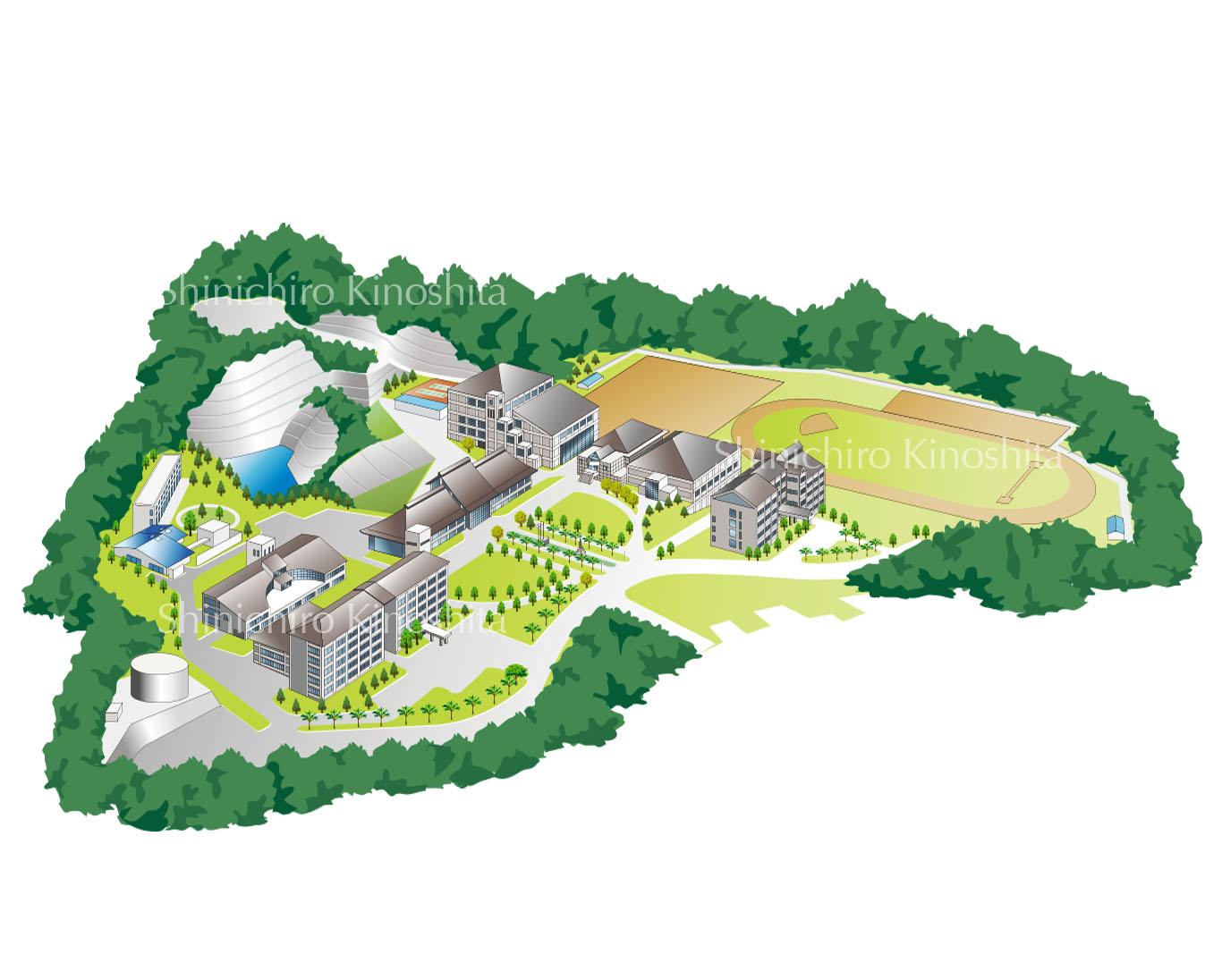 B大学キャンパスマップ