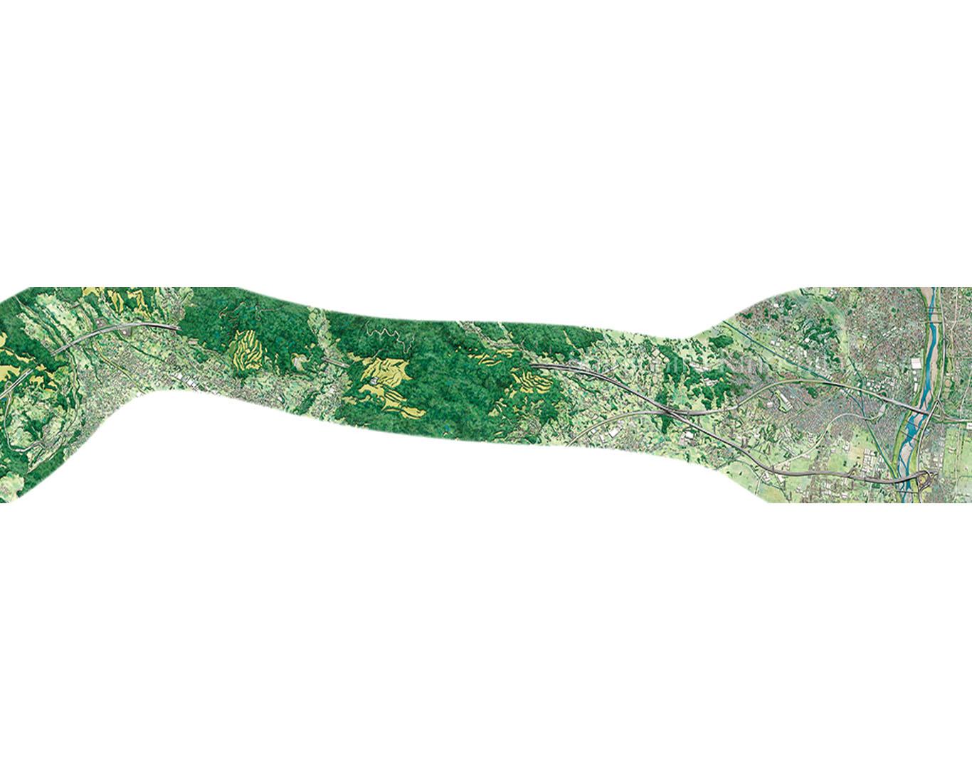 新東名高速道路鳥瞰図
