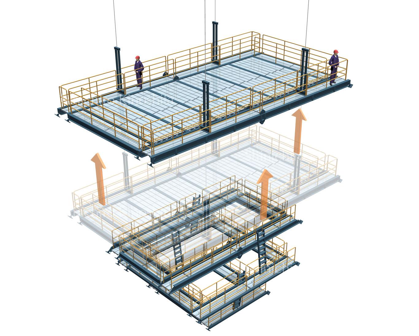 工事用エレベータイメージ図