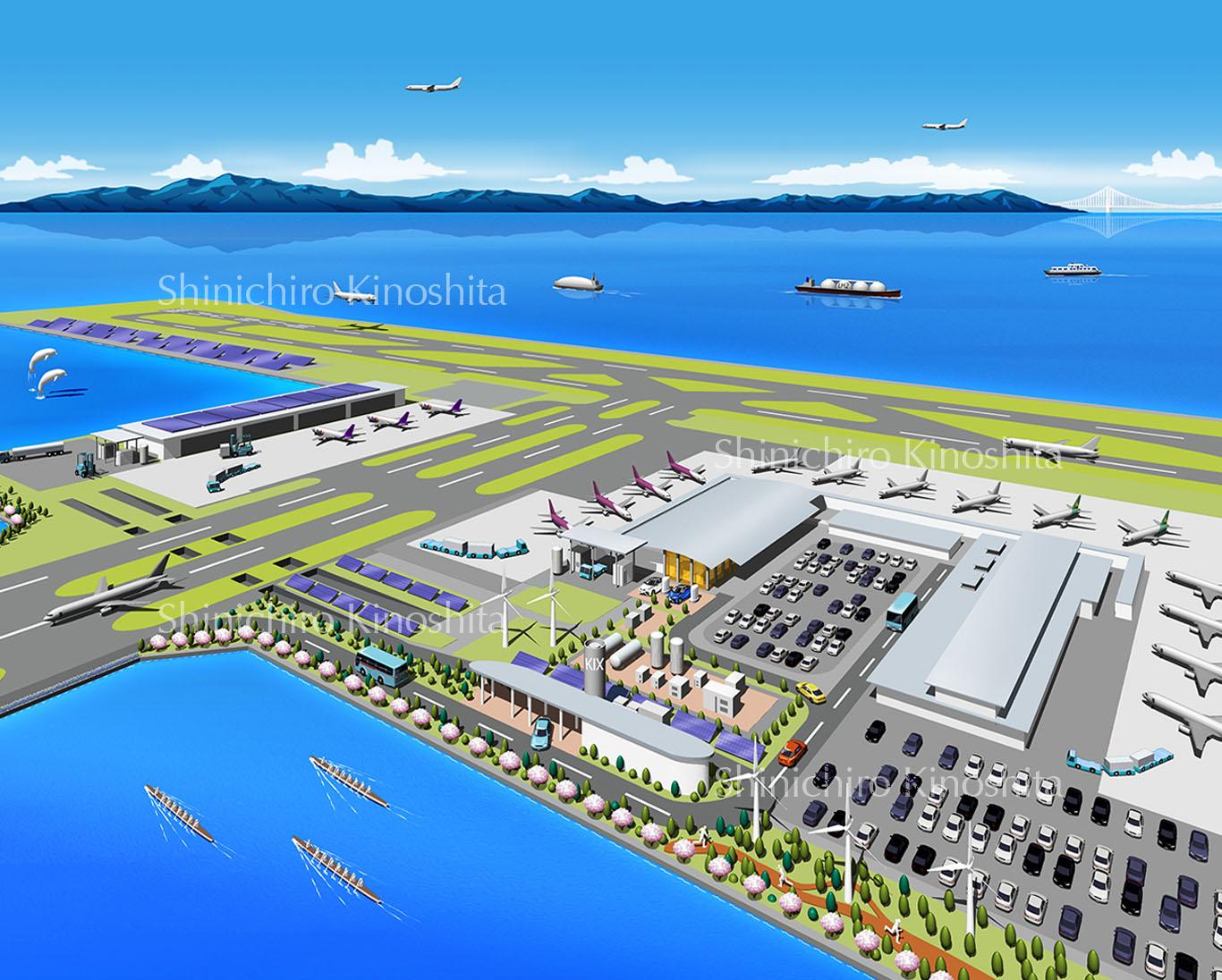 空港イメージ鳥瞰図