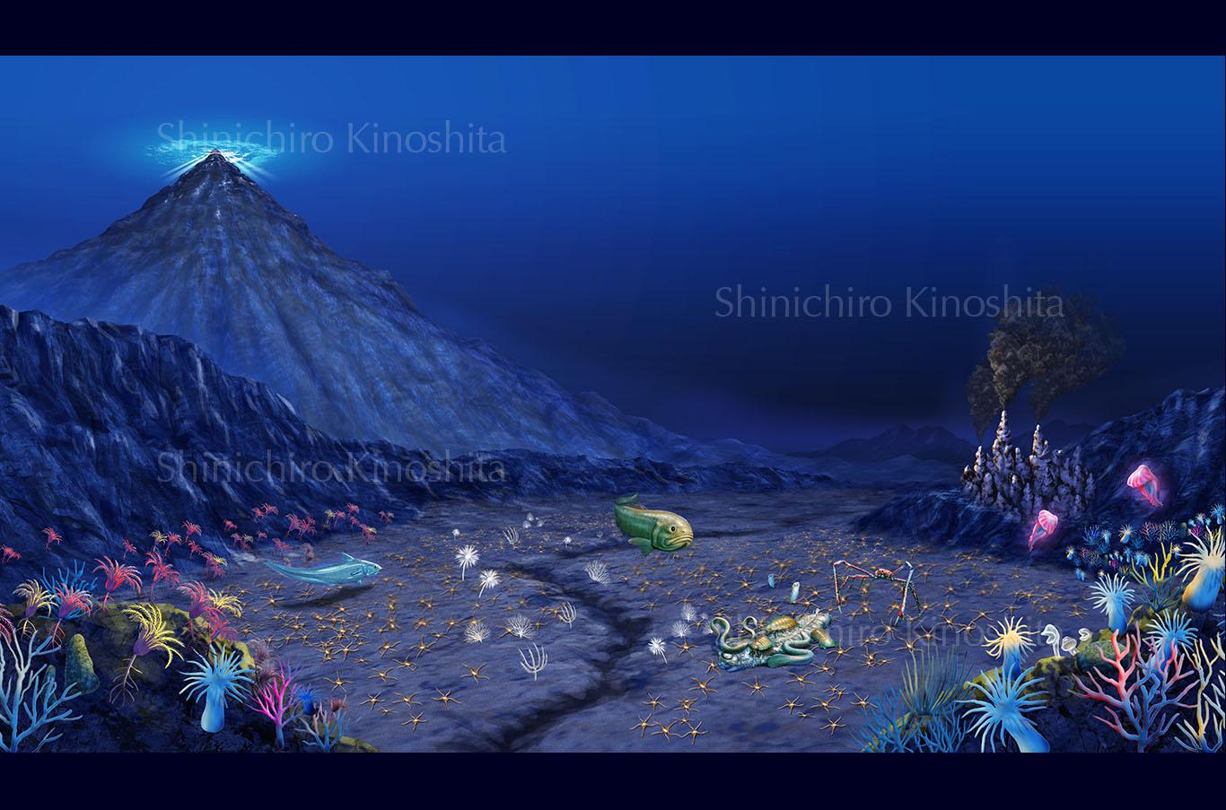 深海の生物ー「海中大探検」(岩崎書店)