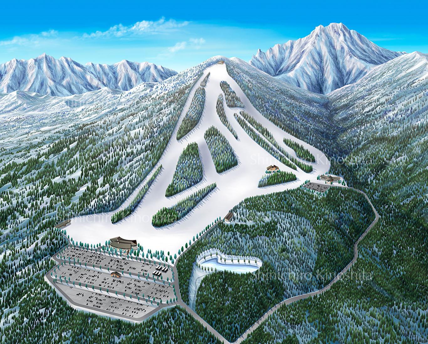 サンメドウズ 清里スキー場鳥瞰図
