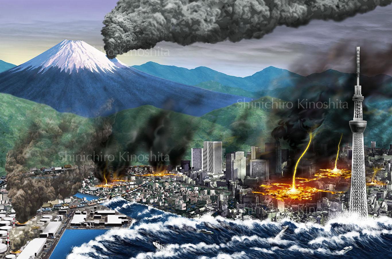 自然災害のイメージイラスト~「地図で知る日本子ども図鑑」昭文社