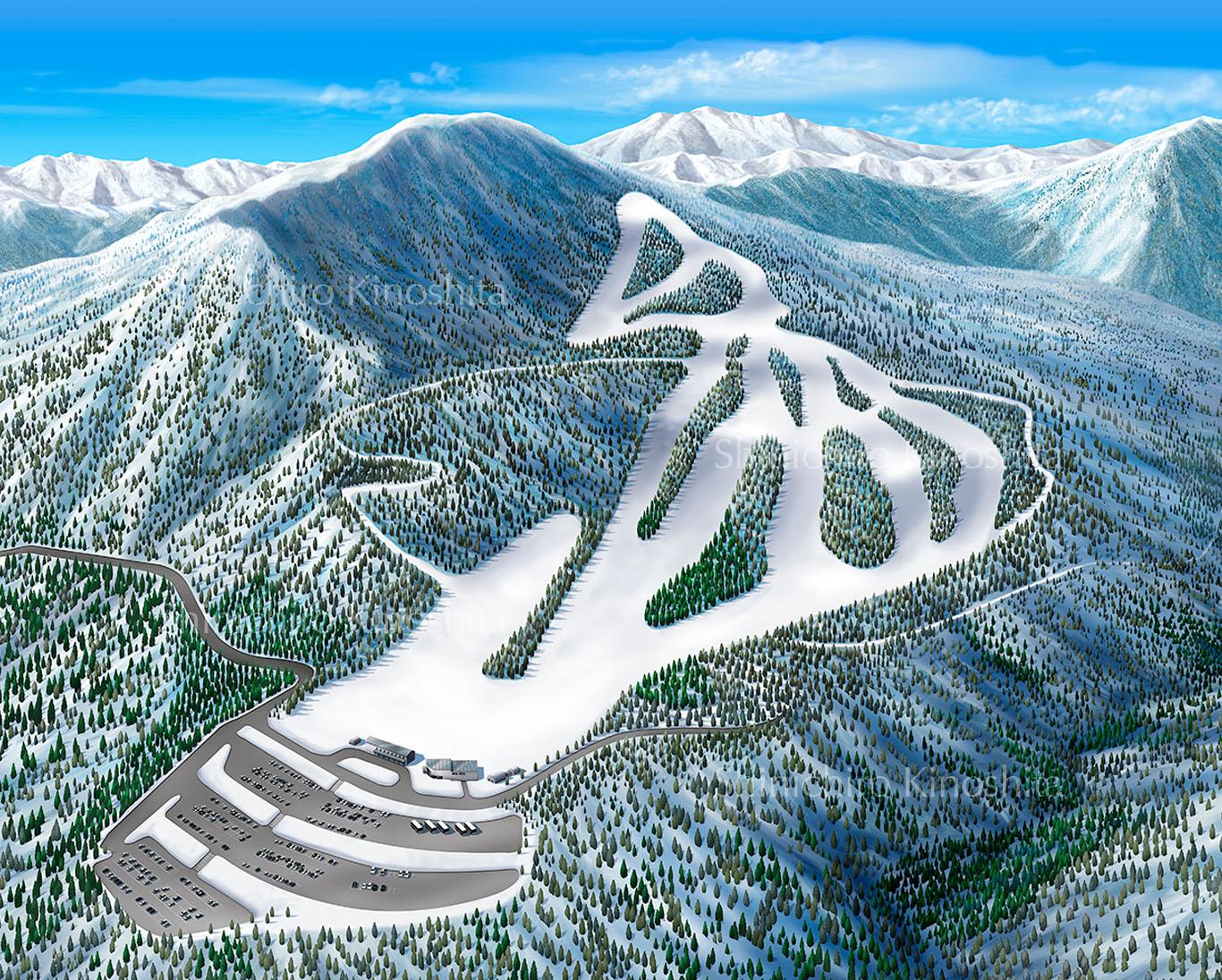 スプリングバレー泉高原スキー場鳥瞰図