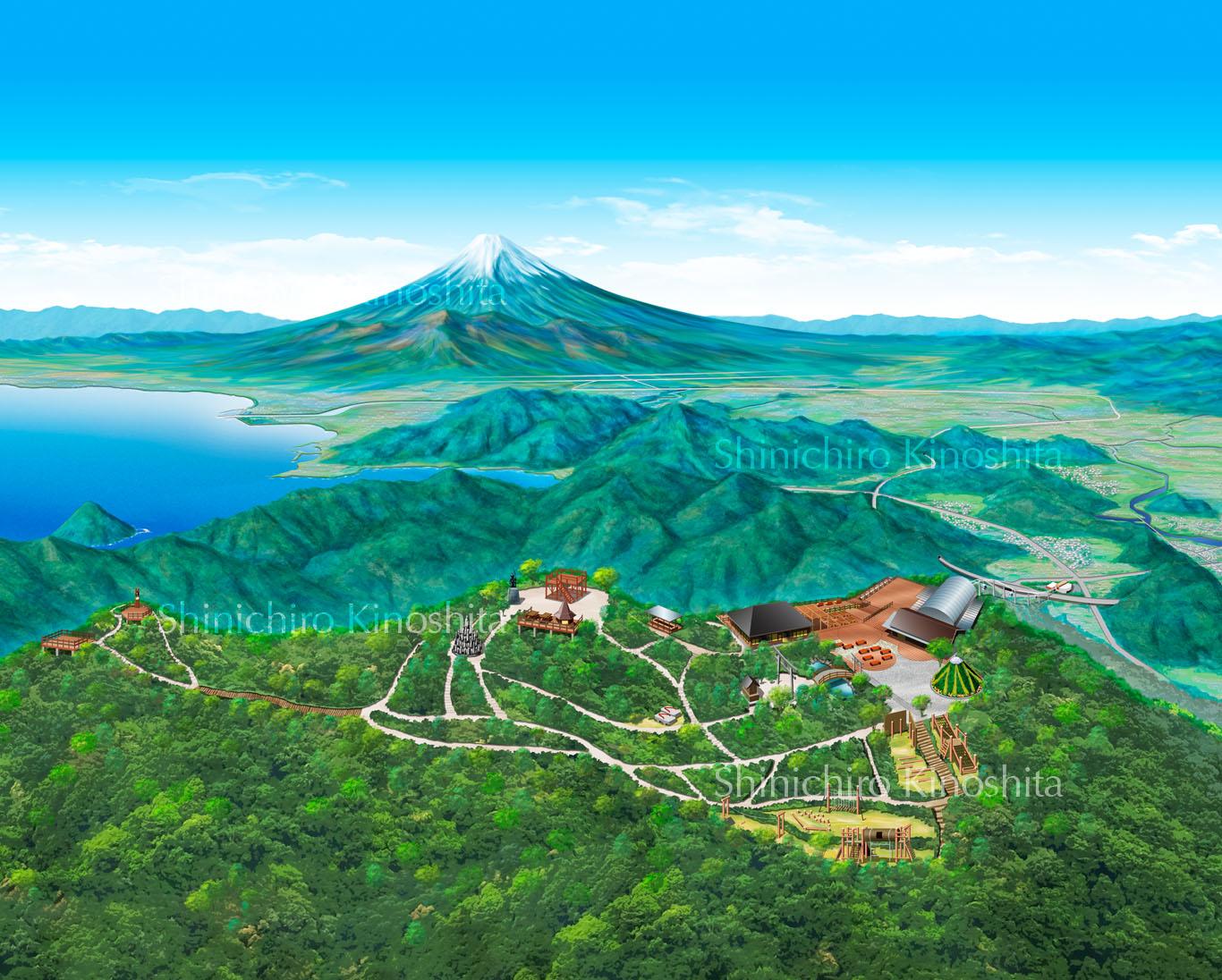 伊豆の国パノラマパーク鳥瞰図
